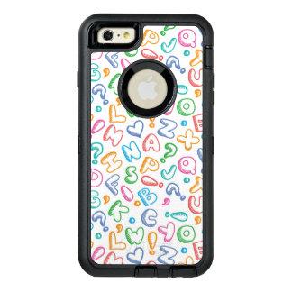 alphabet pattern OtterBox iPhone 6/6s plus case