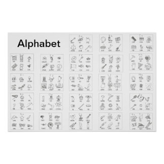 Alphabet Picture Poster