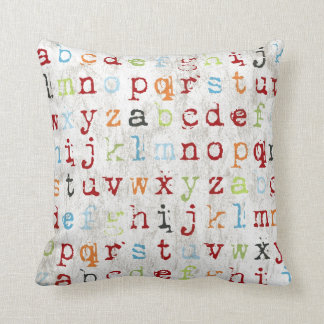 Alphabet Pillow covered with abc's