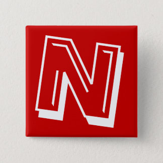 Alphabet Pin - Letter N - Red