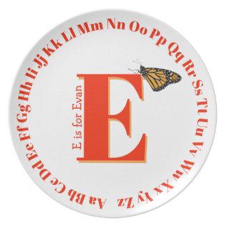 Alphabet Plate ... letter E