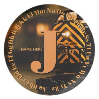alphabet Plate ... letter J for a boy