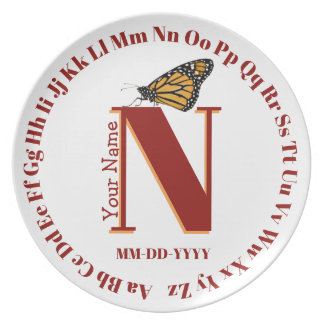 Alphabet Plate ... letter N