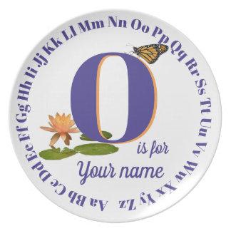 Alphabet Plate ... letter O