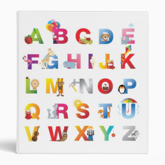 alphabet ring binder