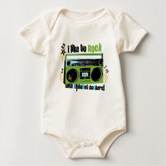 """Alphabet Rockers """"I Like To Rock Baby Bodysuit"""