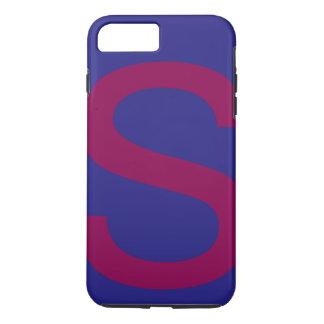 Alphabet s cute different color combination iPhone 8 plus/7 plus case