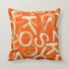 Alphabet soup pillow