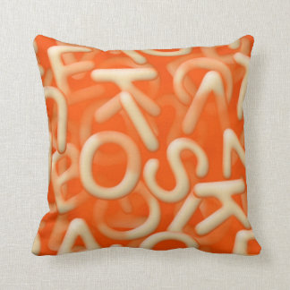 Alphabet soup pillow