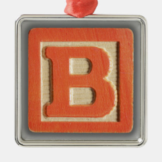 Alphabet Toy Block B Metal Ornament