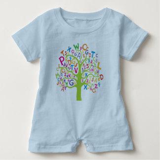 Alphabet tree rumper baby romper