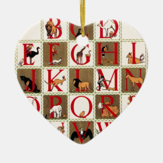 Alphabet Zoo Ceramic Ornament