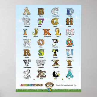 Alphabetimals Plakat - Dansk Version Poster