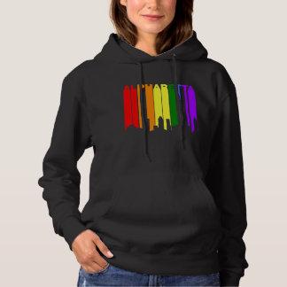 Alpharetta Georgia Gay Pride Rainbow Skyline Hoodie