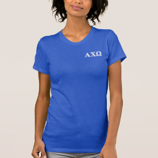 Alphi Chi Omega White and Red Letters T-Shirt