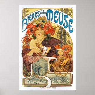 Alphonse (Alfons) Mucha:  Bieres de la Meuse Poster
