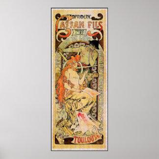 Alphonse (Alfons) Mucha Poster: Cassan Fils Poster