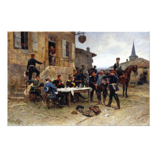 Alphonse-Marie-Adolphe de Neuville The Spy Photo Print