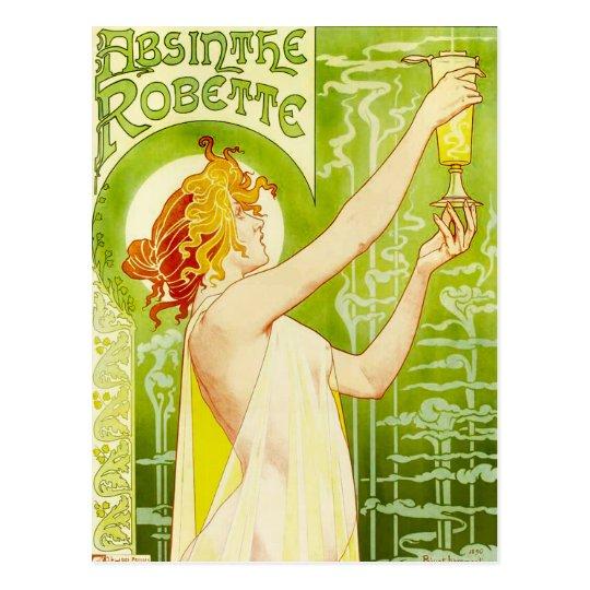 Alphonse Mucha Absinthe Robette Postcard
