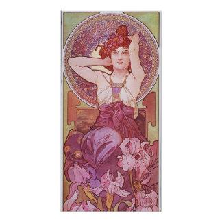Alphonse Mucha Amethyst Art Nouveau Perfect Poster