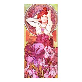 Alphonse Mucha Amethyst Floral Vintage Art Nouveau Rack Card