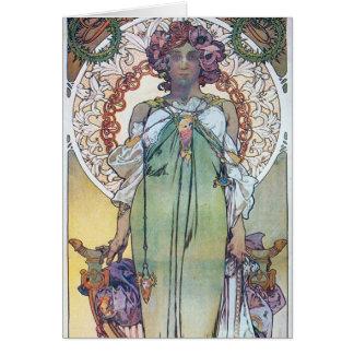 Alphonse Mucha art Card
