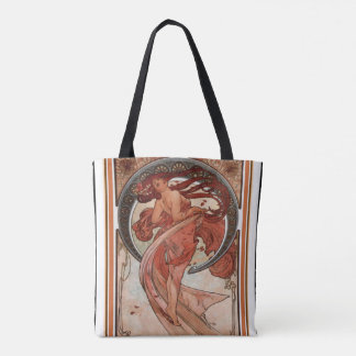 "Alphonse Mucha Art Nouveau ""Dance"" Tote"