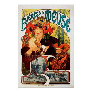 Alphonse Mucha Beer of the Muse Poster
