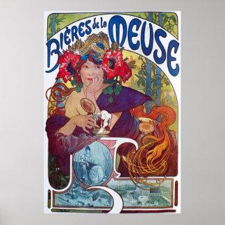 Alphonse Mucha. Bieres De La Meuse, c.1897 Poster