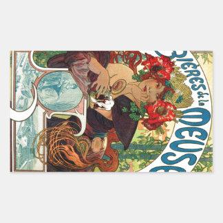 Alphonse Mucha Bieres De La Meuse Sticker