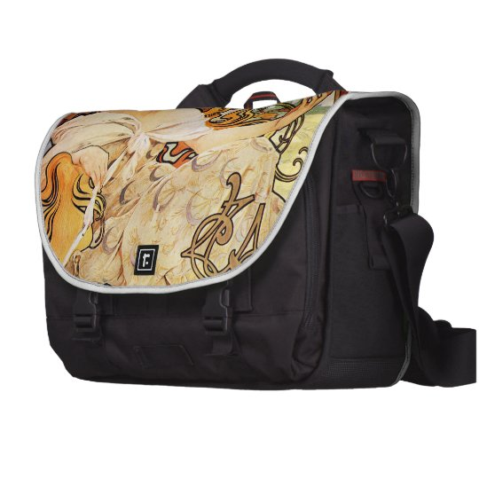 Alphonse Mucha Biscuits Lefevre-Utile Laptop Bag