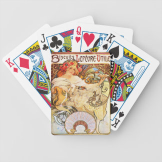 Alphonse Mucha Biscuits Lefevre-Utile Playing Card