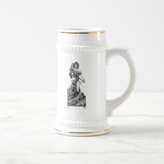 Alphonse Mucha Broken Blossoms Beer Stein