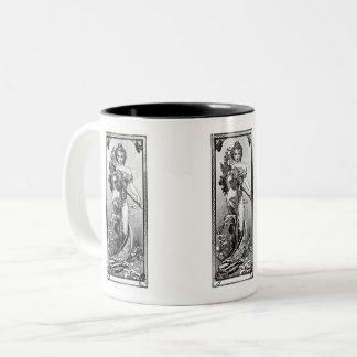 Alphonse Mucha Broken Blossoms Two-Tone Coffee Mug