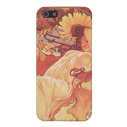 Alphonse Mucha, Chocolat Mexicain 1896 Case For iPhone 5/5S