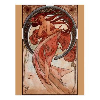 "Alphonse Mucha, ""Dance"" Postcard"