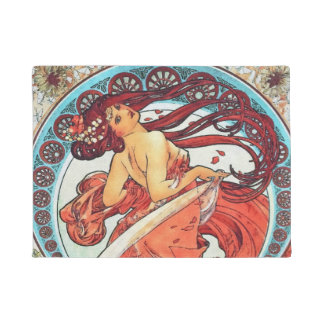 Alphonse Mucha Dance Vintage Art Nouveau Painting Doormat
