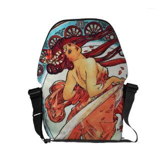 Alphonse Mucha Dance Vintage Art Nouveau Painting Messenger Bags