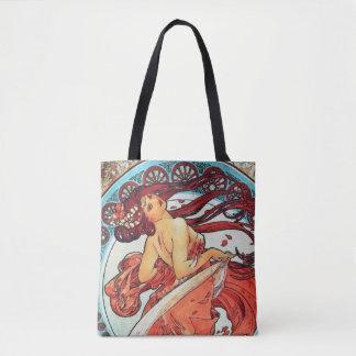 Alphonse Mucha Dance Vintage Art Nouveau Painting Tote Bag