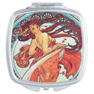 Alphonse Mucha Dance Vintage Art Nouveau Painting Vanity Mirrors