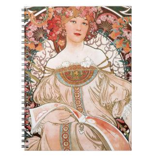 Alphonse Mucha: Daydream (Rêverie) Notebook