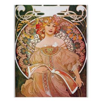 Alphonse Mucha Daydream Reverie Perfect Poster