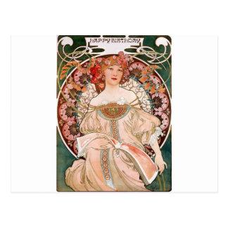 Alphonse Mucha: Daydream (Rêverie) Postcard