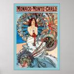 ~ Alphonse Mucha de Monte Carlo de ~ du Monaco Affiche