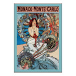 ~ Alphonse Mucha de Monte Carlo de ~ du Monaco Poster