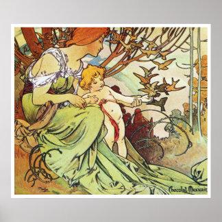 Alphonse Mucha. Enfance/Childhood, 1897 Poster