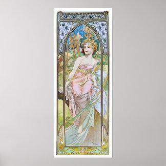 Alphonse Mucha. Eveil Du Matin Poster