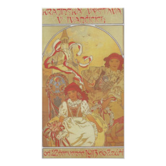 Alphonse Mucha - Exhibition 1913 Print