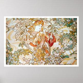 Alphonse Mucha. Femme A La Marguerite 1900 Poster