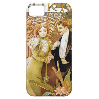 Alphonse Mucha Flirt Vintage Romantic Art Nouveau iPhone 5 Case